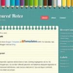 Free Blogger Templates Download: Coloured Notes