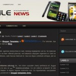 Free Blogger Templates Download: Mobile News