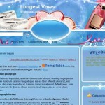 Free Blogger Templates Download: Longest Vows