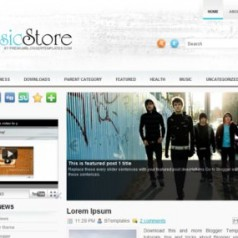Free Blogger Template Download: MusicStore